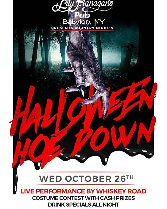 Tonight!A Country Western Halloween Ho-Down at Lily Flanagan's in Babylon with Whiskey Road Get Local Events Around the Town of Babylon in your Inbox! Click the Link in Our Bio to Subscribe and never say 'What are we doing tonight?' ever again! #ilovebabylonny #babylonny #amityvillelocal #golocalbabylon #golocalcopiague #deerparklocal #farmingdalelocal #fireislandlocal #golocallindy #northbabylonlocal #westbabylonlocal #golocalwyandanch #ilovebabylonevents #localevents #supportlocal…