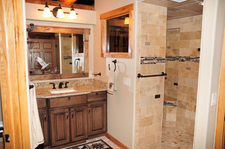 antique mirror schuler base cabinet with granite and. Black Bedroom Furniture Sets. Home Design Ideas
