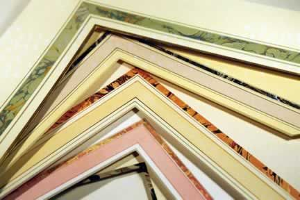 Trapani Art & Frame features french matting.
