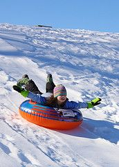 Sledding rocks.  PcPools sells awesome winter inflatable sleds here: http://www.pcpools.com/inflatablesnowtubesandinflatablesnowsleds/