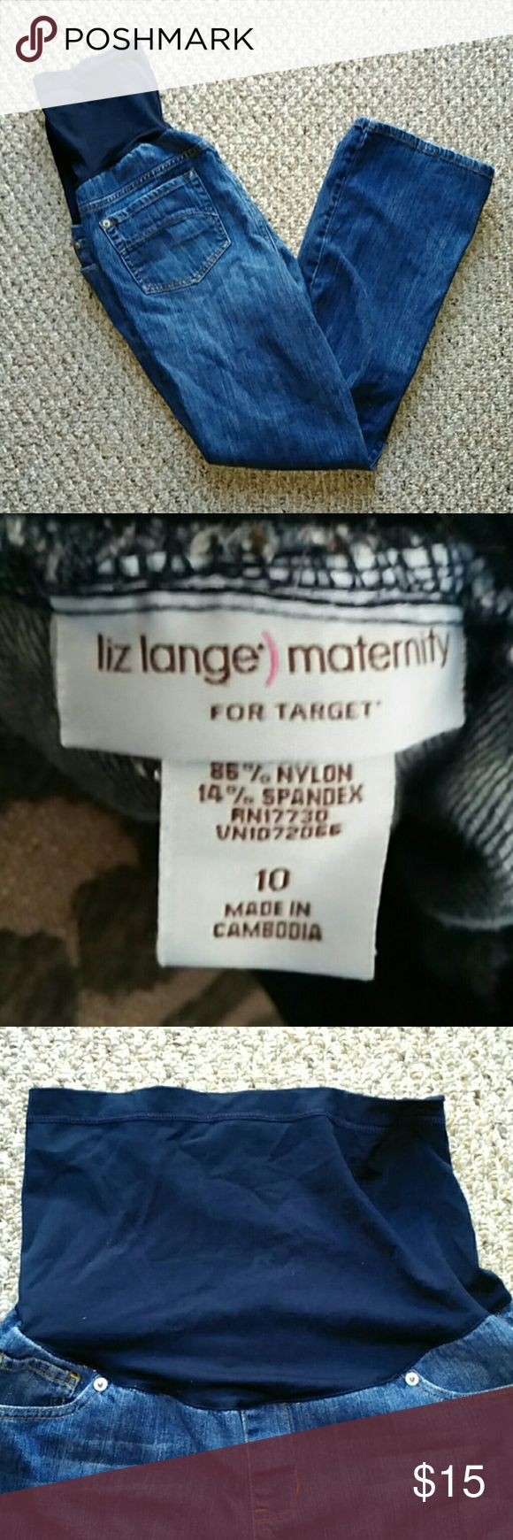 """Liz Lange for Target Maternity Jeans size 10 Liz Lange for Target Maternity jeans. Size 10. Elastic belly band at the top. Bootcut. No rips or stains. Inseam is approximately just under 28.5"""" Liz Lange for Target Jeans Boot Cut"""