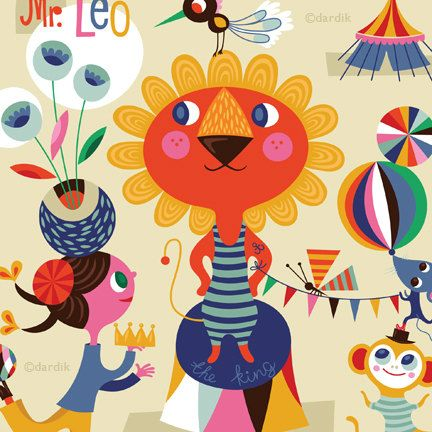 Mr.+Leo+the+KIng+of+the+Circus...+limited+edition+by+helendardik,+$25.00
