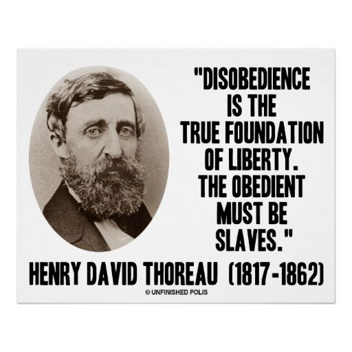 the political principles of thoreau Civil disobedience  i cannot for an instant recognize that political organization as my government which is the slave's government also all men recognize the right of revolution that is, the right to refuse allegiance to, and to resist, the government, when its tyranny or its inefficiency are great and unendurable  without public.