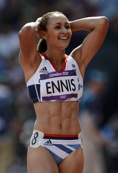 Jessica Ennis, heptathlete, Great Britain  A rare gem, Ennis has the whole package: looks, body and finally, a gold medal around her neck.
