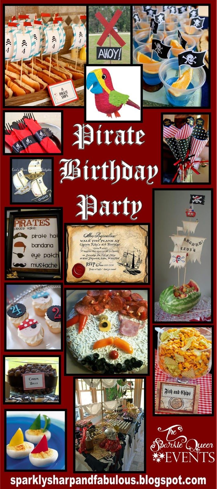 Yarrr! Pirate birthday parties are a fun and classic theme to host! There is room for your imagination to run wild, and plenty of elements to either, buy in stores, order online, or make yourself. Plus with the recent Disney Pirates of the Caribbean movies, pirates are extra popular with the kids. Pirate Birthday Party …