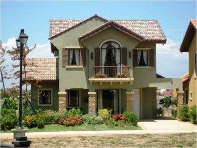 Fachadas de casas de 2 pisos con balcon modernas linda for Ver jardines de casas pequenas