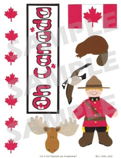 Canada Scrapbook Embellishment. $1.25, via Etsy.