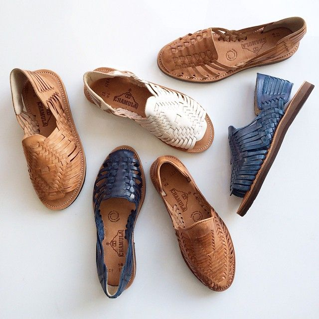 #Chamula huaraches handmade in Mexico by artisans using soft, hand-brushed veg tan leathers.