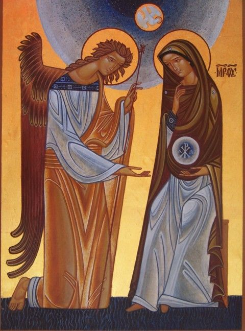 Annunciation by Icon Writer, Lyuba Yatskiv   LiveJournal