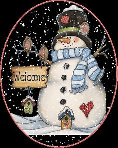 SNOWMAN WELCOME GIF                                                                                                                                                                                 More