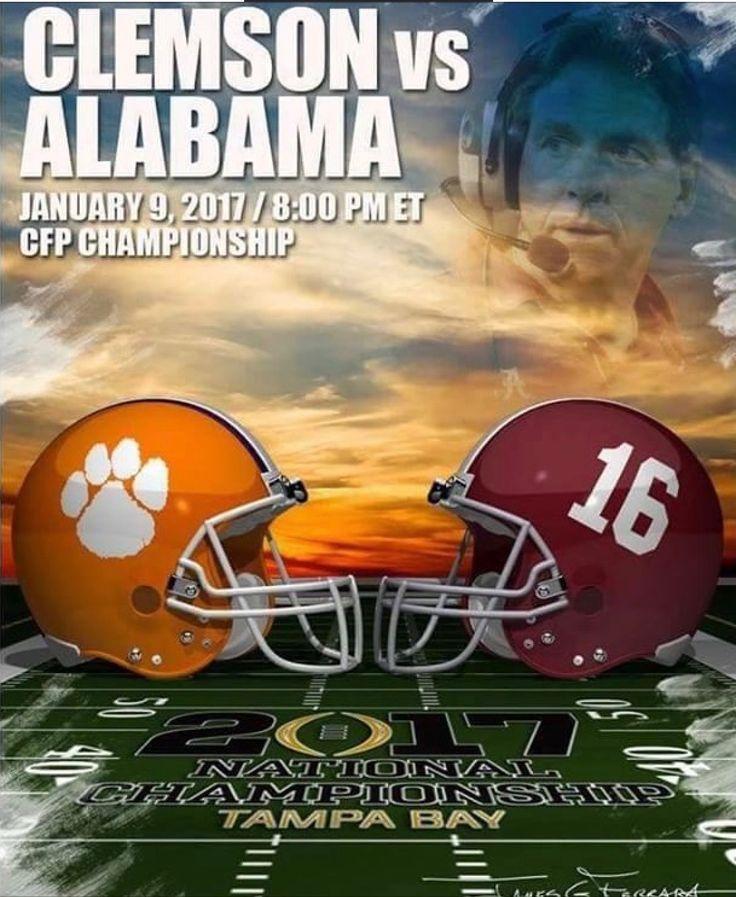 Clemson vs Alabama  #Alabama #RollTide #Bama #BuiltByBama #RTR #CrimsonTide #RammerJammer
