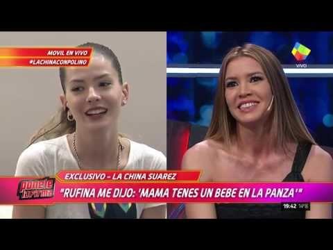 """La """"China"""" Suárez le confirmó a Marcelo Polino que está embarazada"""