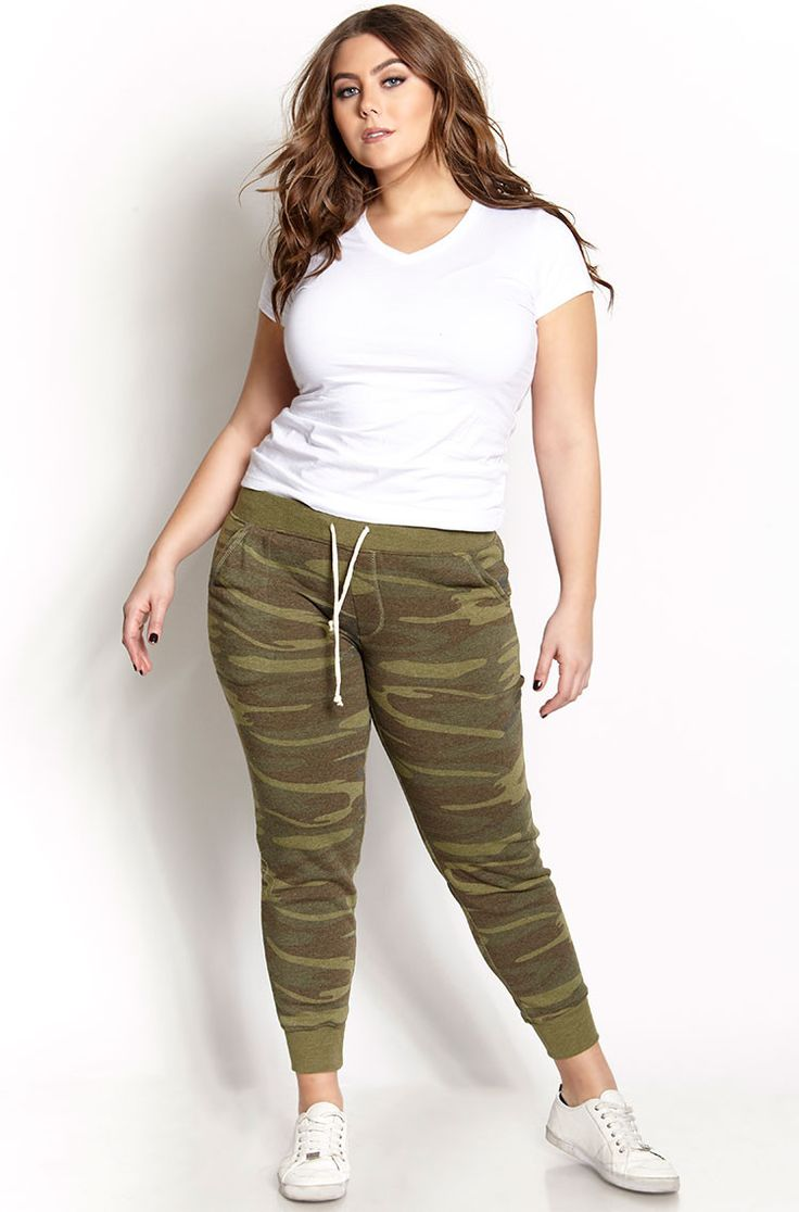 Basic Camo Ladies Joggers