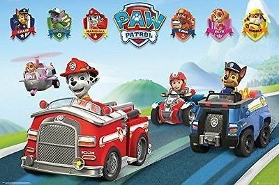 Paw Patrol Vehicles Poster Kids Childrens TV Show Print Wall Art Large Maxi