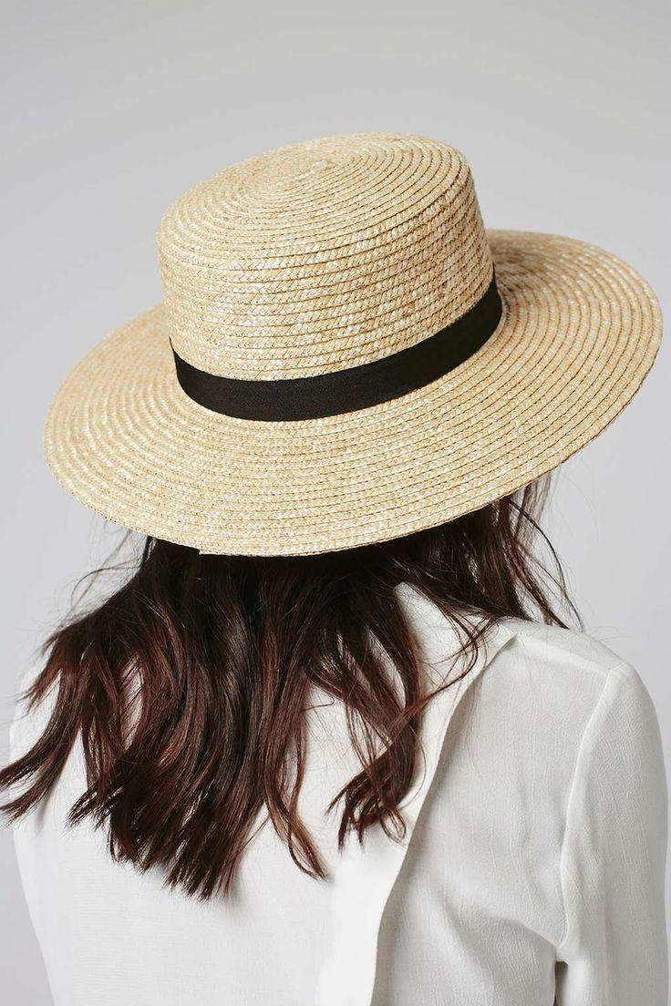 Natural Straw Boater Hat - Topshop