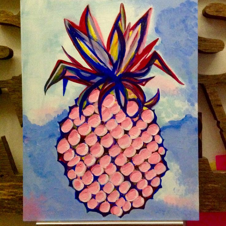 Pineapple  Acrylic painting by Liane Jacob