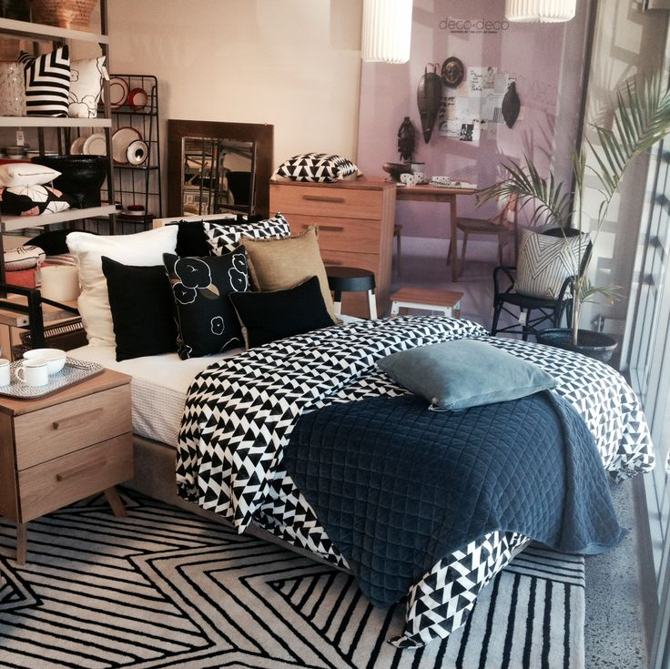 We are loving the Arrow duvet cover! This contemporary monochrome design looks great with colour!