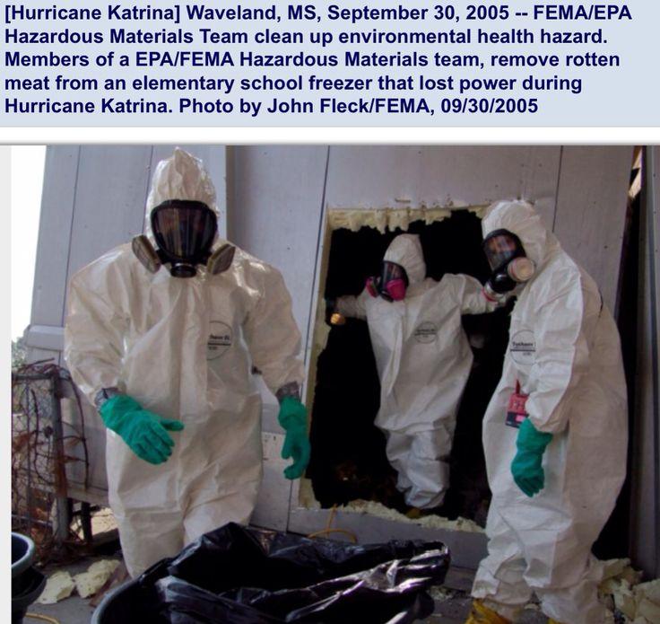 After Katrina: Haz-Mat suits