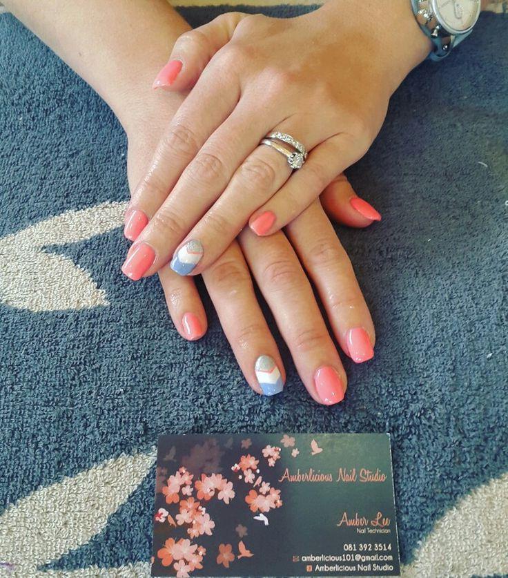Power Gel | grapefruit pink | pink gel polish | nail art | trendy nails