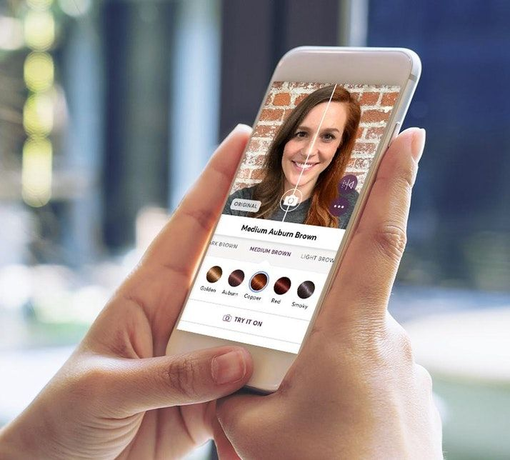 Use Vr To See Your New Hair Color A New App From Madison Reed Hair Color Hair Color Changer Hair Colour App