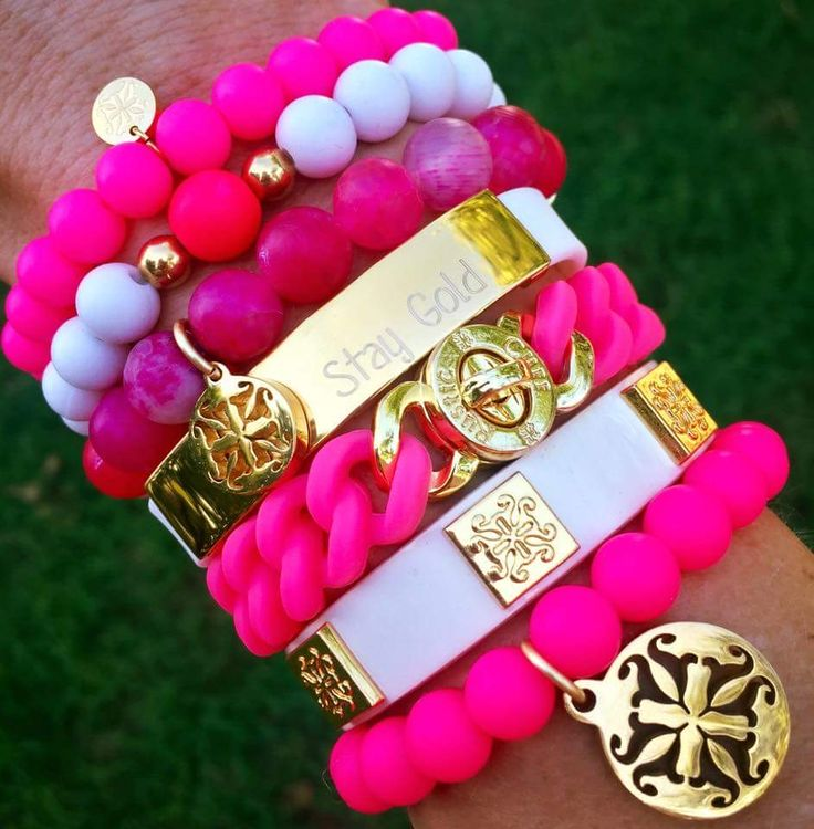 Hot Pink Rustic Cuff Stack