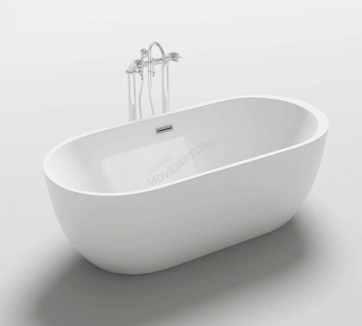 Oltre 25 fantastiche idee su vasca da bagno doccia su pinterest bagno con tenda piccola vasca - Vasche da bagno con piedini ...
