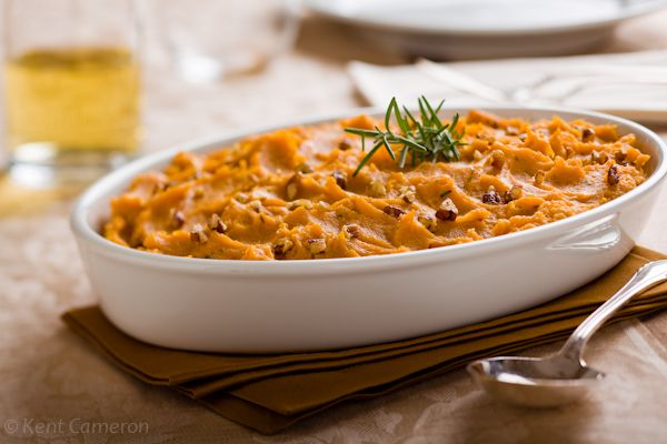Basic Mashed Sweet Potatoes with Rosemary