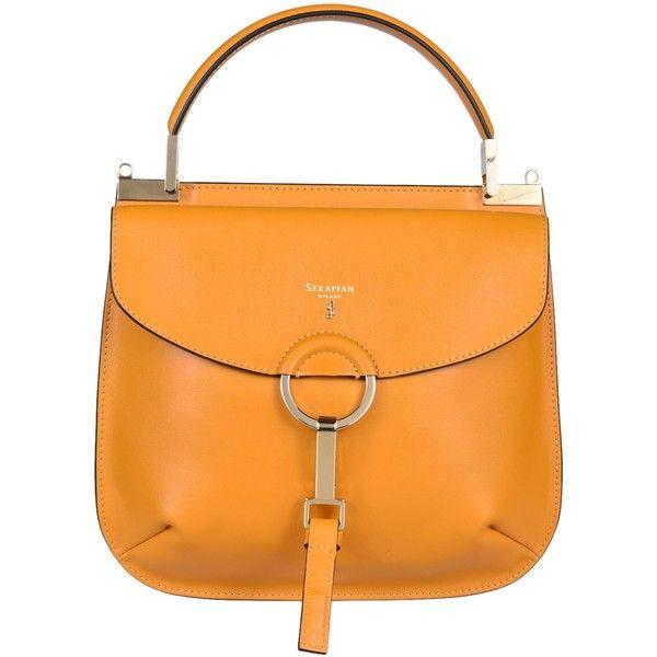 Federica Tote (16.185 ARS) ❤ liked on Polyvore featuring bags, handbags, tote bags, orange, womenbagstotes, orange purse, serapian, handbags totes, tote handbags and orange tote