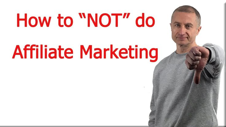 How to NOT do affilliate marketing https://youtu.be/8V_Wik-osRg