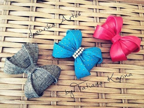 Laço Durinho by Tatiana Karina - Tutorial , PAP, DIY How To Make a Hair Bow - YouTube