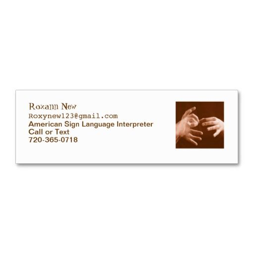 215 best interpreter business cards images on pinterest business sign language interpreter business card colourmoves