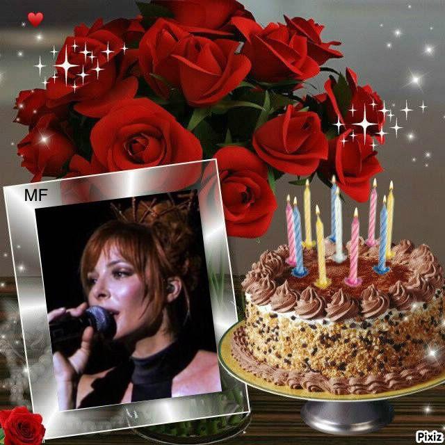 Mylene Farmer Birthday Cake With Photo Happy Birthday Cake Pictures Birthday Wishes Cake
