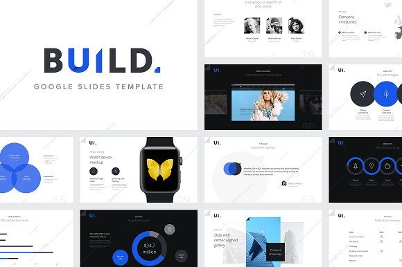 BUILD Google Slides Template by ReworkMedia on @creativemarket