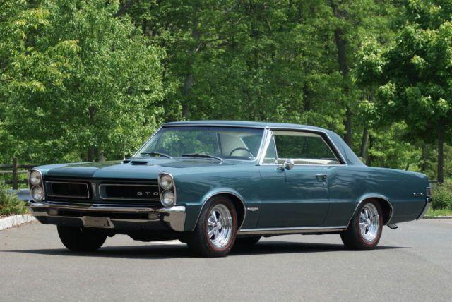 1965 Pontiac Gto Base 6 4l Tri Powered 389 Teal Turquise White Interior 1965 Pontiac Gto Pontiac Gto Gto