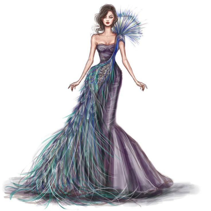 Peacock Gown Watch my Instagram story to see the steps of making this illustration