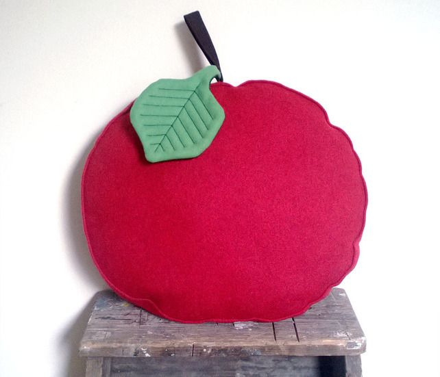 Apple chair cushion in red wool felt £28.00