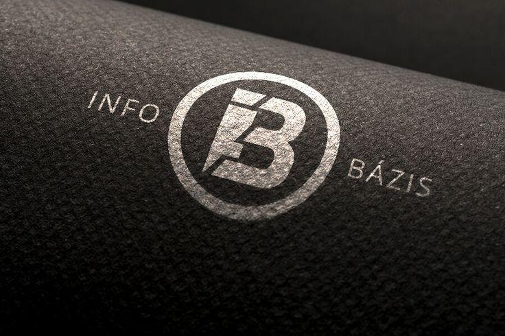 Info Bázis logó.  Logótervezés modern stílusban: http://bfdesign.hu/arculattervezes/