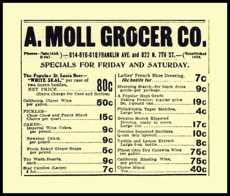 Image result for a moll grocer co st louis history
