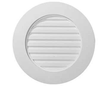 Ekena Millwork Round Gable Vent With Wide Trim Buymbs Com