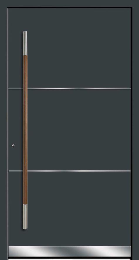 Modern entrance doors Filigrane Lisenen setzen Akzente RODENBERG Türsysteme AG