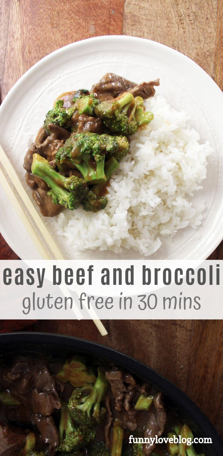 Super easy beef and broccoli recipe that you can make at home! This is a gluten free beef and broccoli dinner that is do…