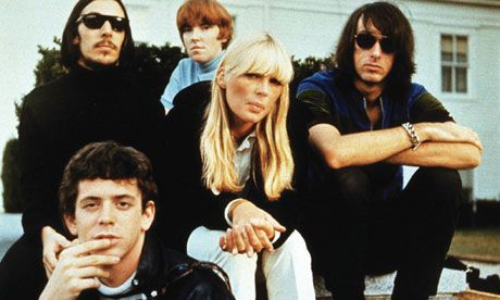 Mysterious and unknowable … The Velvet Underground and Nico.  Back: John Cale, Maureen Tucker, Sterling Morrison.  Center: Nico.  Front: Lou Reed.