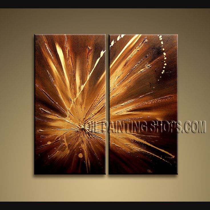 Stunning Modern Textured Painted Wall Art Hand-Painted Art Paintings For Bath Room Abstract. This 2 panels canvas wall art is hand painted by D.Lee, instock - $125. To see more, visit OilPaintingShops.com