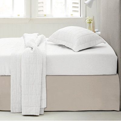 Sweet Home Collection Microfiber 1500 Thread Count Bedskirt-Dust Ruffle Color: Beige, Size: Queen