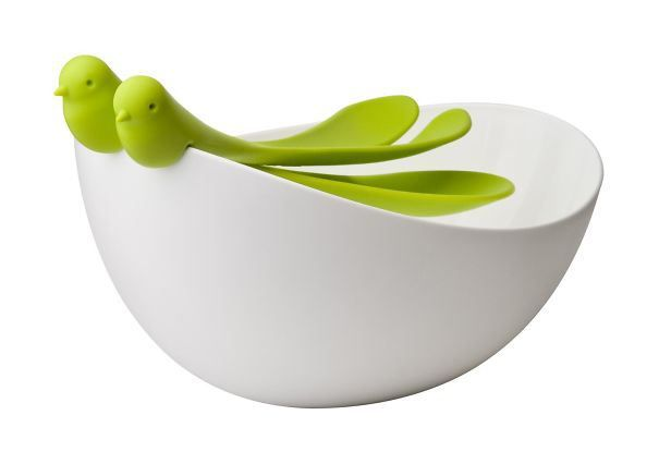 Sparrows Salad Bowl And Servers http://www.amazon.com/Sparrow-Salad-Servers-White-green/dp/B00CYITHF0/ref=pd_sim_sbs_k_2?ie=UTF8&refRID=1R3H50MTXTJ9GZA6JQWD
