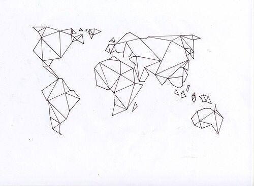 Origami globe trotter