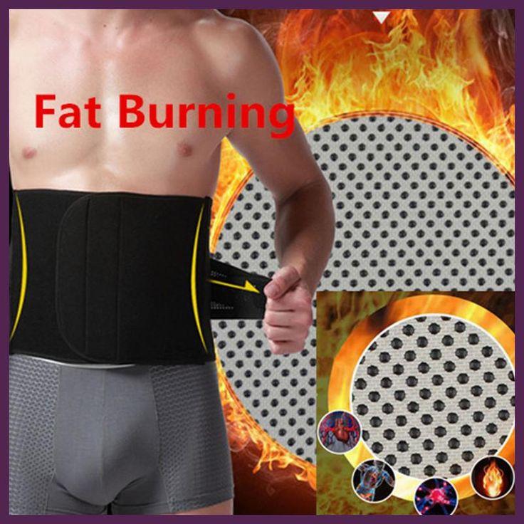 Belly Abdomen Fat Burner Belt Burning Trimmer Hot Waist Trainers Cincher Support Tummy Slimming Massage Body Shaper