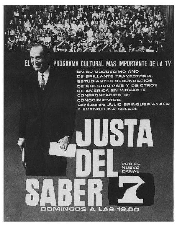 Publicidad de programación. CANAL 7, Buenos Aires, 1970.