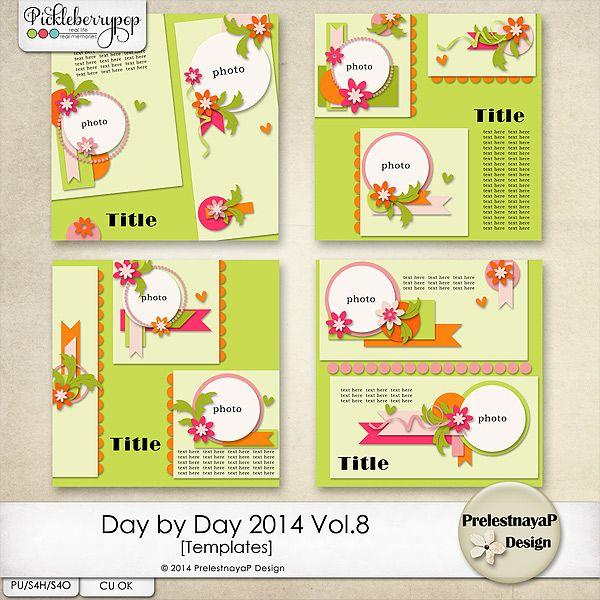 Day by Day 2014 Vol.8 Templates by PrelestnayaP Design