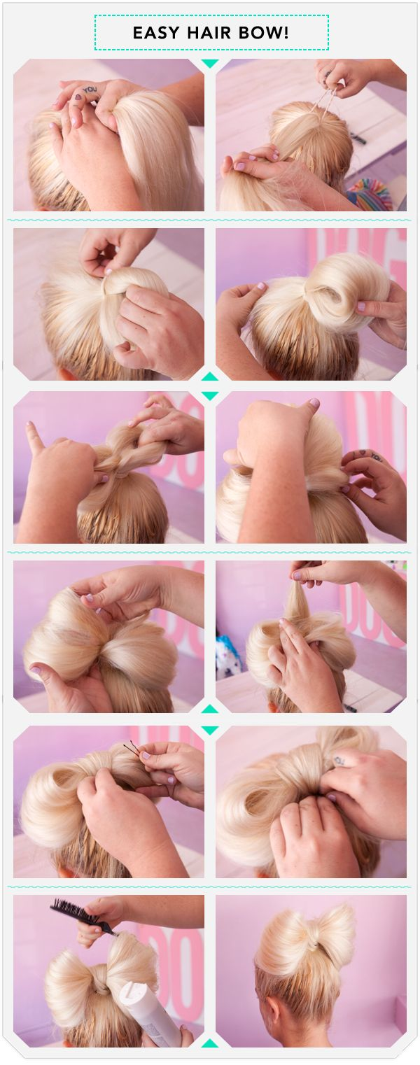 Hair Bow How To… I would never wear my hair like this because I couldn't p | How Do It Info
